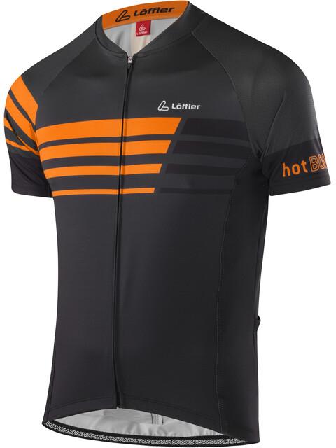 Löffler Hotbond Reflective Bike Trikot Full-Zip Herren schwarz/orange